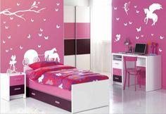 Contoh Warna Cat Kamar Tidur merah jambu pink dengan hiasan