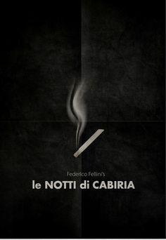 Le notti di Cabiria (Nights of Cabiria) (1957) ~ Minimal Movie Poster by Zoki Cardula ~ Fellini Series #amusementphile