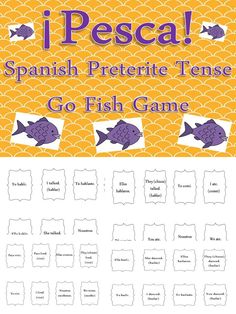 Practice conjugating regular verbs in the #preterite #tense# with this classic card game. Kids love it! Cards can be used for the game Memory, too!