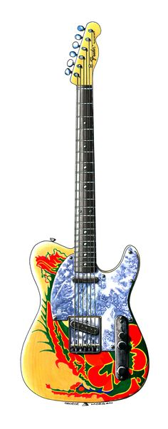 JIMMY PAGE'S 1959 TELECASTER The 'Dragon' was a blonde 1959 Fender Telecaster given to Jimmy Page by Jeff Beck