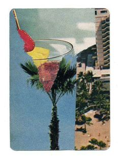 Hawaiian Tropic by Travis Medford (Cut and Paste Collage) #poolparty
