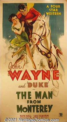 "The Man From Monterey (Warner Brothers-First National, 1933) Three-Sheet (41"" X 81"")"