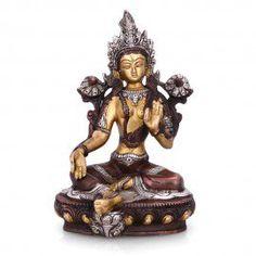 """Tibetan Buddhism Tara Buddha Yin Kwan Goddess Buddhist Brass statue-8.2"""""""