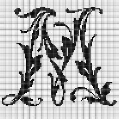 alphabet M leafy glade