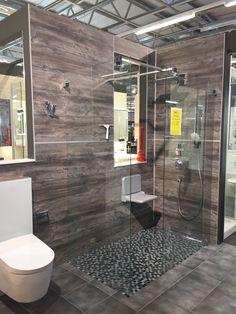 Bad Fliesen Ideen Modern Bad Modernes Bad Graue Fliesen Dusche ... Glastrennscheibe Dusche Modern