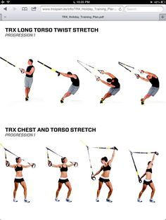 Trx workout: stretches – Keep up with the times. Suspension Workout, Trx Suspension, Suspension Training, Trx Workouts For Women, Fit Board Workouts, Gym Workouts, Trx Training, Training Plan, Ufc