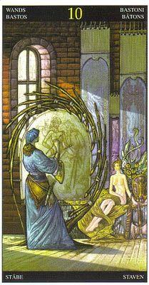 Ten of Wands. Universal Fantasy Tarot