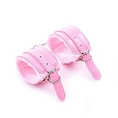 Generische 1 St¨¹ck rosa Leder & Pelz Handgelenk Handschellen Kn?chel-Manschetten Bondage Fetisch Sex SM-Spielzeug