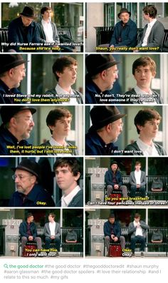 The good doctooor- Dr Aaron Glassmann and Shaun Murphy/ Freddie Highmore The Good Doctor Abc, Good Doctor Series, Best Tv Shows, Favorite Tv Shows, Movies And Tv Shows, Tv Quotes, Movie Quotes, Shaun Murphy, Doctor Quotes