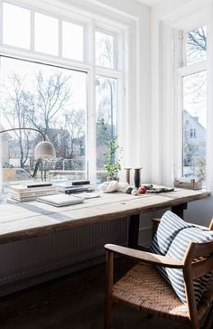 White Home Office Ideas To Make Your Life Easier; home office idea;Home Office Organization Tips; chic home office. Home Office Space, Home Office Design, Home Office Decor, Home Design, Interior Design, Home Decor, Office Ideas, Design Ideas, Office Designs