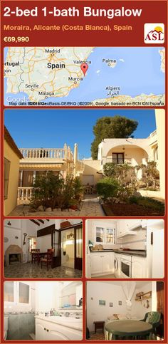 2-bed 1-bath Bungalow in Moraira, Alicante (Costa Blanca), Spain ►€69,990 #PropertyForSaleInSpain