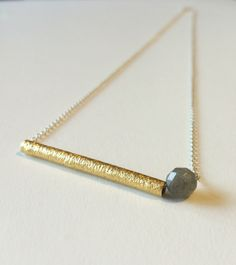 The first of our geometrics collection x 18ct gold and sterling silver featuring a labradorite bead ~ said to bring clarity