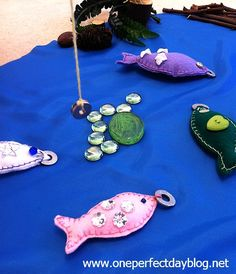 magnetic indoor 'fishing' game ~ diy ~ photo instructions ~ my favorite version so far of this fun activity ~ kids would love this! ~ oneperfectdayblog.net