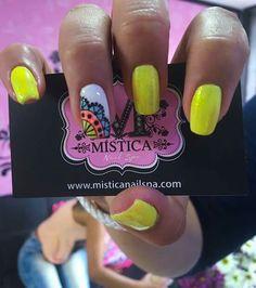 Resultado de imagen para decorados de uñas mistica Hello Nails, Neon, Manicure, Nail Designs, Nail Art, Erika, Triangles, Margarita, A3