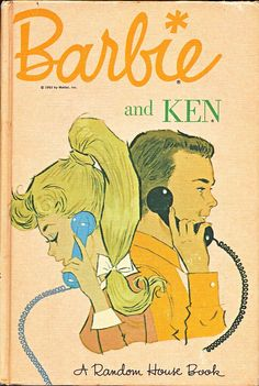 Vintage Book BARBIE AND KEN Hardcover 1963. $15.99, via Etsy.