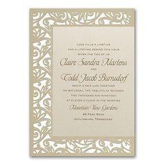 Fancy Detail - Ecru Weddding Invitation  |  40% OFF  |  http://mediaplus.carlsoncraft.com/Wedding/Wedding-Invitations/3150-FVN8585-Fancy-Detail--Ecru--Invitation.pro