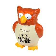 Mascot Owl Stress Toy from www.schoolspiritstore.com