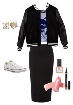 """""""Popular girl"""" by university-apples-books on Polyvore featuring мода, MSGM, Converse, Elizabeth Arden, Yves Saint Laurent и ncLA"""