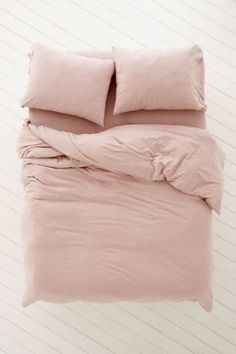Heathered Jersey Duvet Cover: way too expensive, but simple + cute