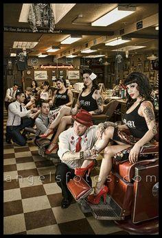 Halleywood's barbershop California ♤
