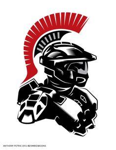 Halo Spartan from Ancient Greece Halo 3, Halo Game, Halo Reach, Video Game Art, Video Games, Odst Halo, Halo Tattoo, John 117, Halo Armor