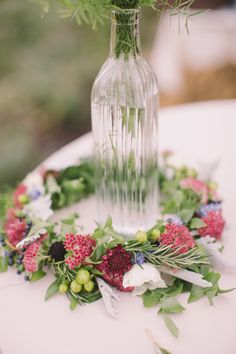 Rustic fall floral crown: http://www.stylemepretty.com/little-black-book-blog/2016/05/25/sweet-diy-details-rustic-barn-wedding/ | Photography: Alexandra Meseke - http://alexandrameseke.com/