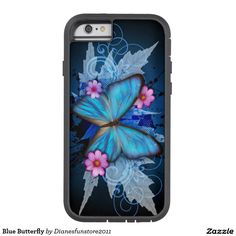 Blue Butterfly Tough Xtreme iPhone 6 Case