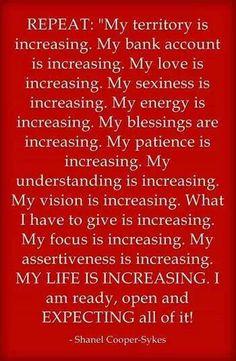 Affirmation: I AM increasing!