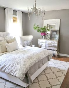 Master Bedroom Paint Color Ideas: Day Bedroom, Charcoal Grey Wall Color For Colonial Bedroom Decorating Ideas For Young Women With Printed Floral Bedding Set: The Elegant Bedroom Colors for Young Women Small Master Bedroom, Master Bedroom Design, Dream Bedroom, Home Bedroom, Bedroom Designs, Master Bedrooms, Master Suite, Bedroom Furniture, Furniture Ideas