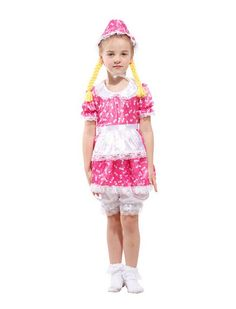 Cute Little Maid Cosplay Floral Pattern Costume Halloween Masquerade Party and Christmas Bar Party Clothes for Girls