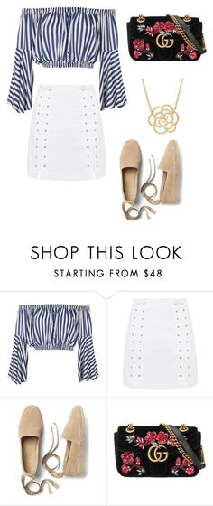"""Untitled #217"" by dulce345 ❤ liked on Polyvore featuring Love, Topshop, Gap, Gucci and Lord & Taylor"