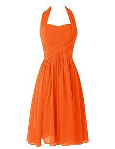 Dresstells® Women's Short Halter Chiffon Party Hoemcoming Dress Bridesmaid Dress Orange Size 8 Dresstells http://www.amazon.com/dp/B00UOE2P4Q/ref=cm_sw_r_pi_dp_S9DDvb08P0F9T