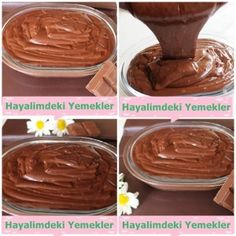yumurtasız pasta kreması Delicious Chocolate, Chocolate Recipes, Cupcake Recipes, Cookie Recipes, Chocolate Cupcakes Decoration, Turkish Sweets, Pastry Art, Recipe Mix, Turkish Recipes