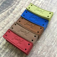 Leather Labels  Custom Leather Labels  by HappyLabelShop on Etsy