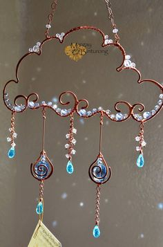 Super brillant Raincloud Suncatcher Swarovski Crystal Pierre