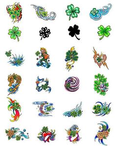 Quite like these clover tattoo designs. Lucky!