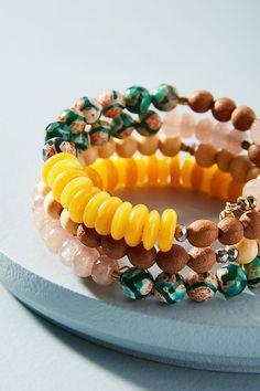Slide View: 2: Beaded Coil Bracelet