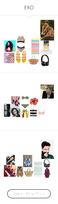 """""""EXO"""" by infinityisangel on Polyvore featuring Missguided, Beats by Dr. Dre, Sunnylife, Seafolly, Marysia Swim, LaMont, Frends, Givenchy, STELLA McCARTNEY and Linum Home Textiles"""
