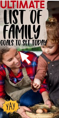 I love setting family goals and goals for myself, long term and short term. It helps me to accomplish the things I set out to do and gives me a sense of purpose, which is especially important since I am a stay at home mom, a job that can get a bit isolating. A great thing about goals is that they can be set year round. Goals don't have to be complicated, in fact making simple goals makes it more likely that you will achieve them. One of the things I love best is setting goals with my family.