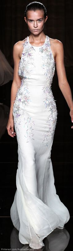 Julien Macdonald | Spring/Summer, 2014...  I love the unusual bling on this.  <3<3