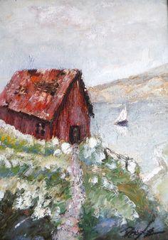 Cape Cod original signed dune shack AskArt listed US Kevin F Doyle Basquiat pal #Impressionism
