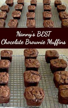 Brownie Muffin Recipe, Brownie Recipes, Muffin Recipes, Cookie Recipes, Oven Recipes, Beste Brownies, Chocolate Fudge Brownies, Brownie Cake, Brownie Bites