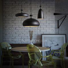 Best Metal Shade Semicircle Black Pendant Lighting For Kitchen
