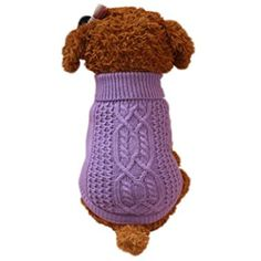 Sunward 2017 Turtleneck Classic Straw-Rope Pet Dog Sweater Apparel >>> Want additional info? Click on the image. (This is an affiliate link) #Dogs