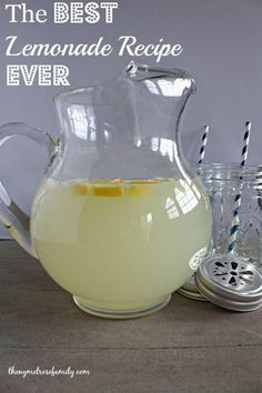 The BEST Lemonade Recipe EVER- I did fresh limes instead of the 1 cup lemon juice. .. so good!