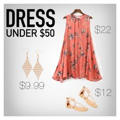 """""""Dress Under 50"""" by freckled-gypsy ❤ liked on Polyvore featuring TIARA and Dressunder50"""