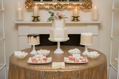 Ivory and Pink Dessert Table