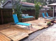 Simple Pallet Deck Plans For The Home Outside
