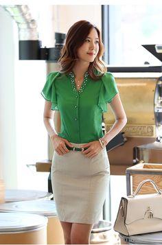 professional set dress beading shirt elegant skirt for women fashion