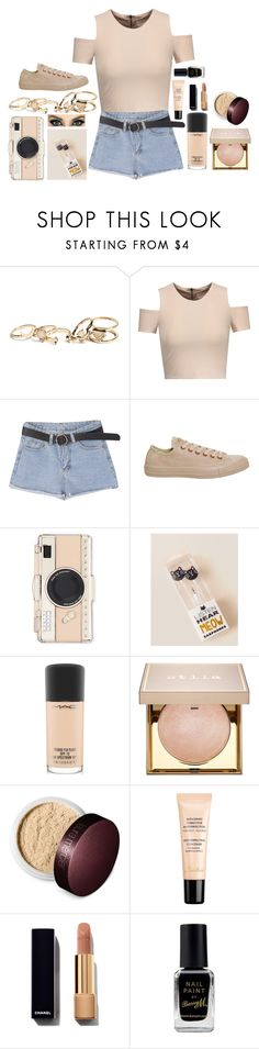 """Untitled #2535"" by dark-jewel ❤ liked on Polyvore featuring GUESS, Alice + Olivia, Converse, Kate Spade, MAC Cosmetics, Stila, Laura Mercier, Guerlain and Barry M"